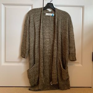 Anthropologie Sparrow Green Open Cardigan Sweater